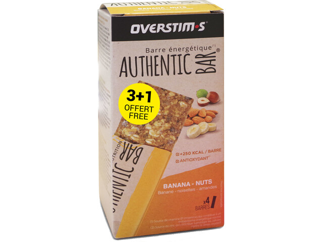 OVERSTIM.s Authentic Patukkalaatikko 3 + 1 x 65 g, banana almond
